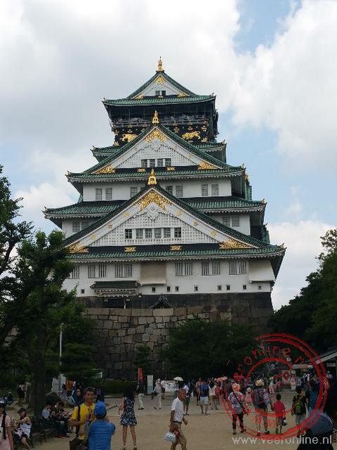 Het Osaka Castle is herbouwd nar een brand in 1965