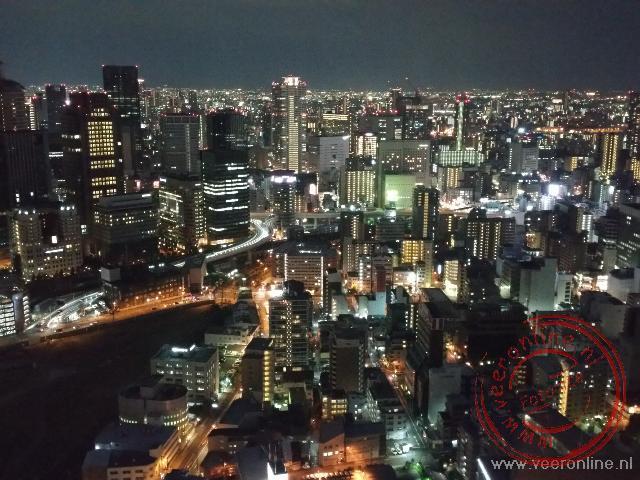 De avond valt over Osaka. De laatste avond in Japan
