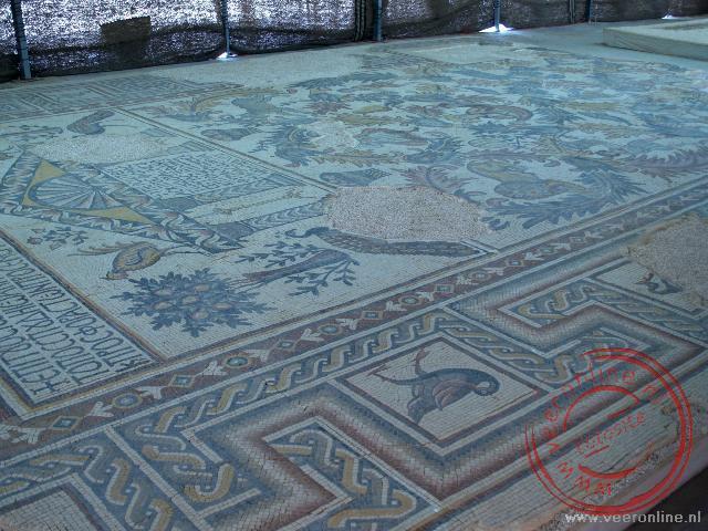 Het mozaïek van de kapel op Mount Nebo