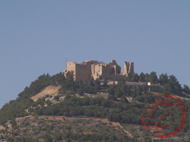 Het kasteel van Aljoun (ook wel Ajlun) in Aljoun