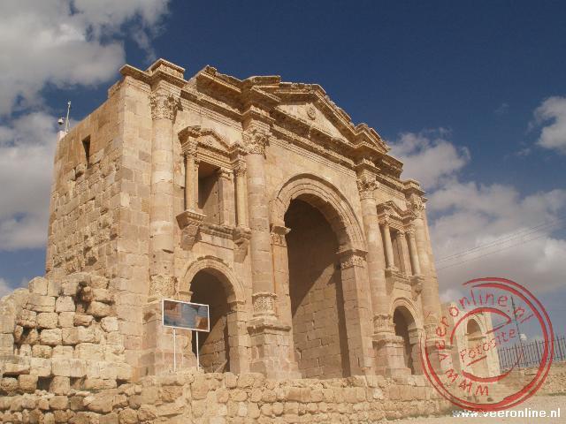 De Hadrian's Arch is de centrale toegang tot Jerash