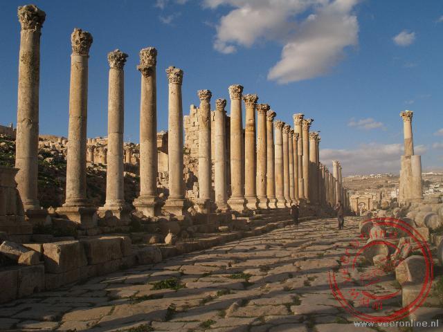 De Colonnaded Street was de belangrijkste doorgaande weg door Jerash