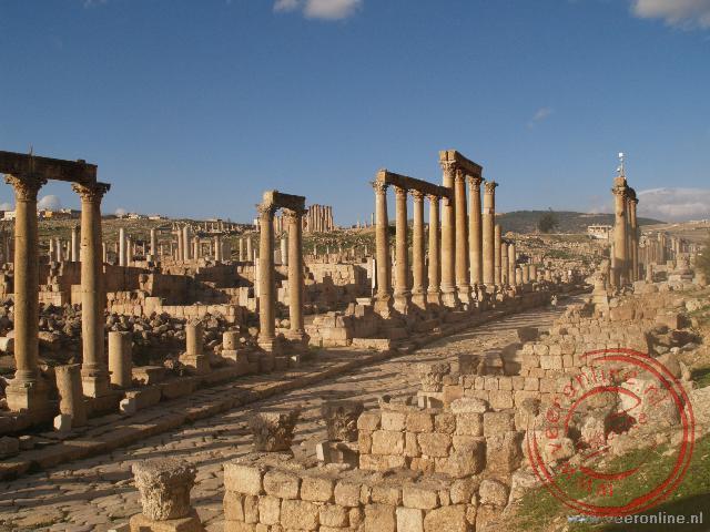De Colonnaded Street in Jerash