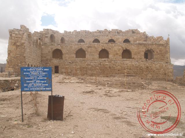 De zuid-zijde van het Karak Castle was de stevigste muur