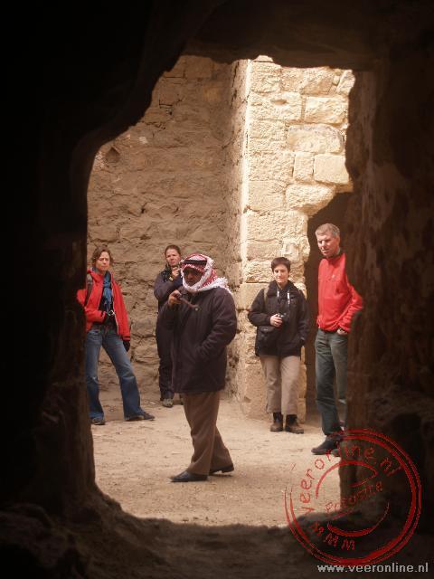 Mohammed geeft uitleg over het kasteel
