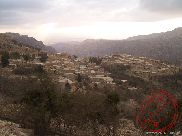 Het door een aardbeving verwoeste stadje Dana in Jordanië