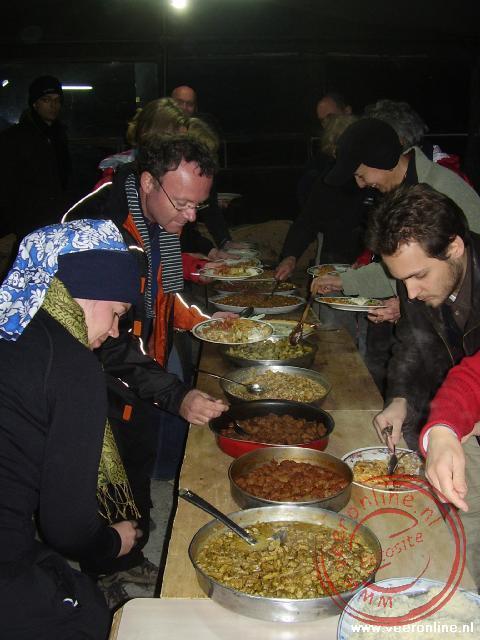 Een heerlijk buffet in het guesthouse in Dana