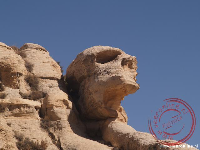 Een schedel rots in natuurpark Dana