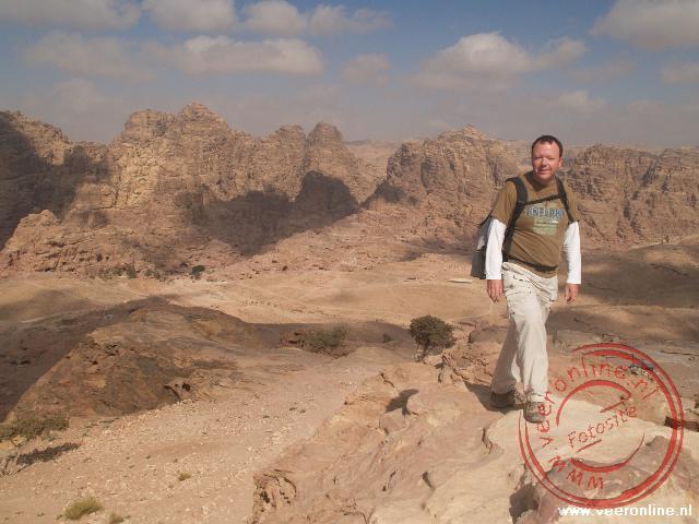 Vanaf de Place of Sacrifice heb je een mooi uitzicht over Petra