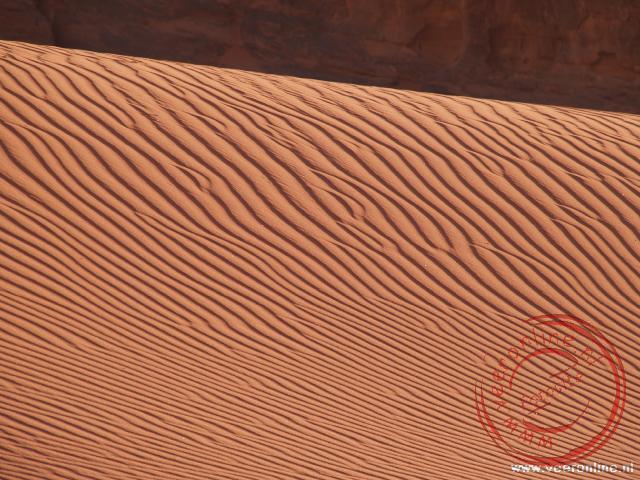 Een zandheuvel in de woestijn
