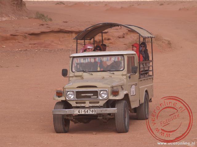 met de Jeep door Wadi Rum