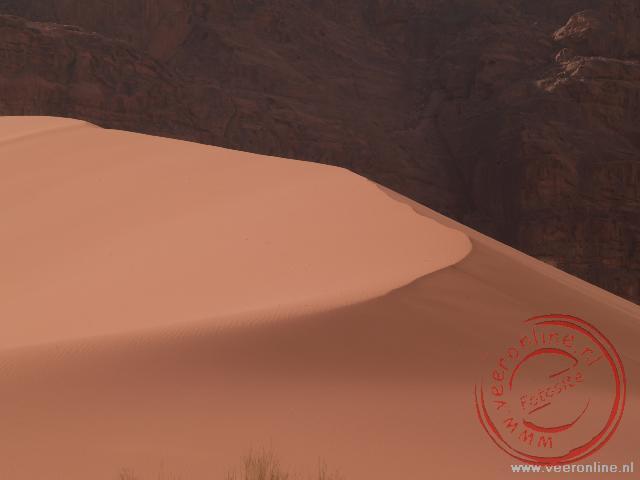 De hoogste zandduin in Wadi Rum