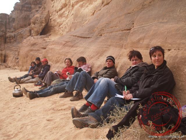 Even rustig zitten op de campsite in Wadi Rum