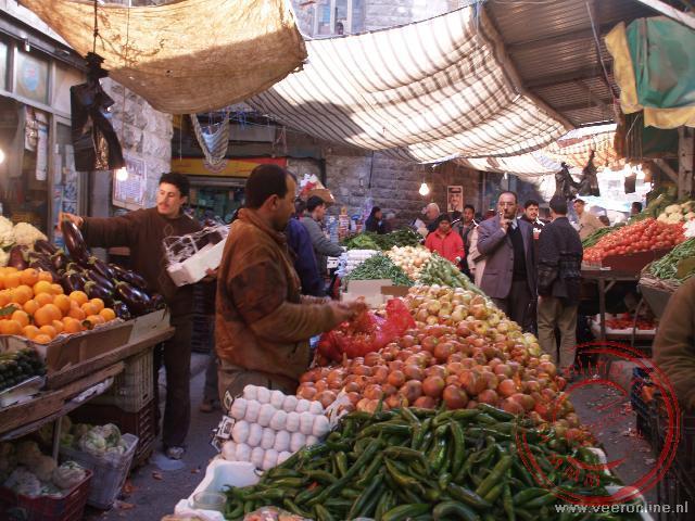 De fruitmarkt in de Souq van Amman