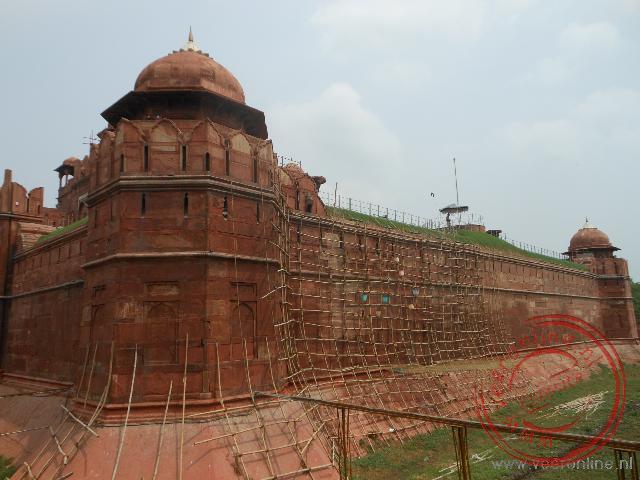 Het Rode Fort in Old Delhi