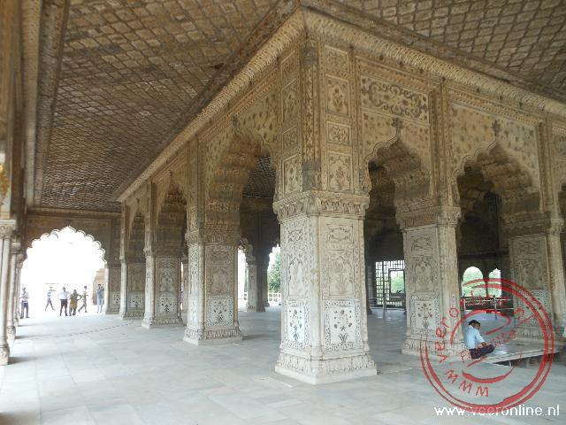 De Diwan-i Khan, de privé vertrekken binnen het Rode Fort
