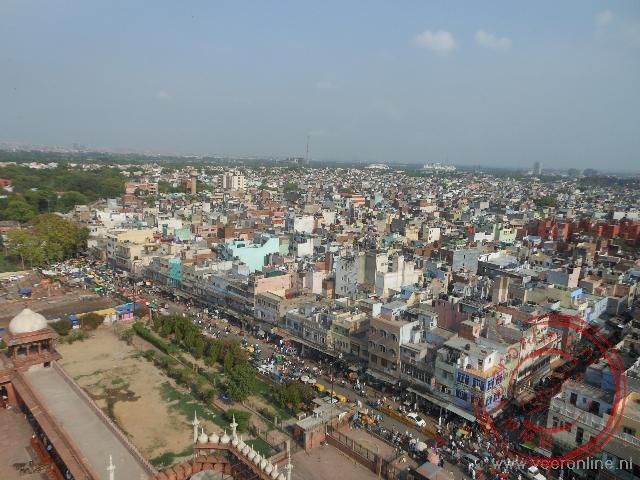 Uitzicht over Old Delhi vanaf de Jama Masjid