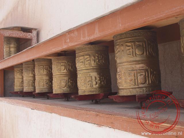 De Tibetaanse gebedsmolens in Ladakh