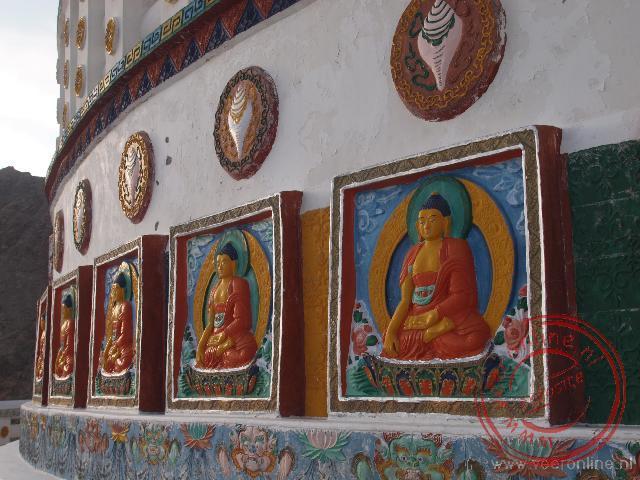 Details van de Shanti Stupa in Leh