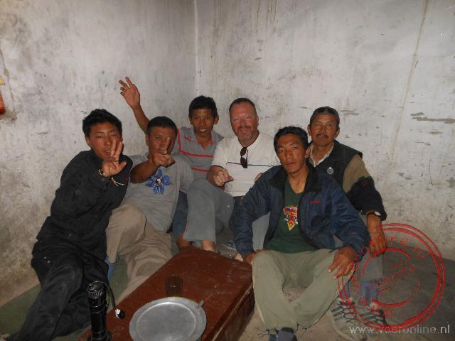 Op de foto met de crew van de trekking