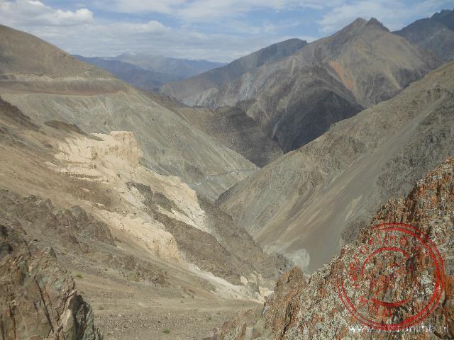 Uitzicht over het berglandschap