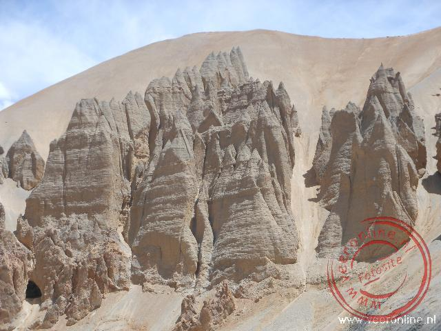 Prachtige rotsformaties rond Sarchu