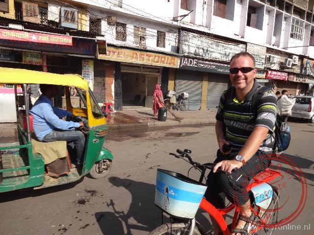 Op de fiets door Delhi