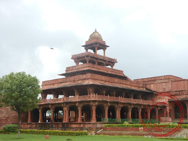 Het vijf verdieping hoge paleis in het Fatehpur Sikri Fort
