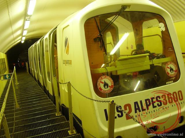 De trein naar de top in Les 2 Alpes