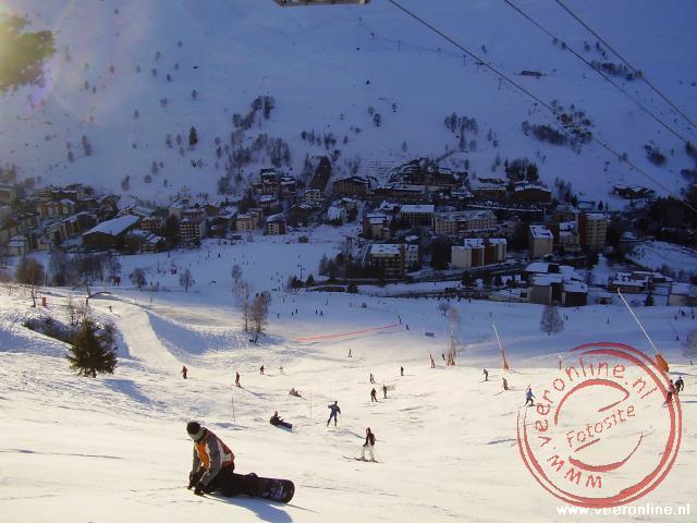 De zwarte piste terug naar Les 2 Alpes