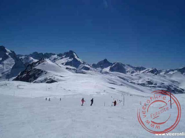 Overzicht van het skigebied Les 2 Alps