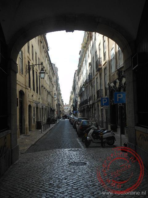 Een doorkijkje in één van de smalle straatje in het centrum