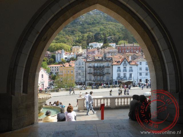 Uitzicht op het plein in Sintra