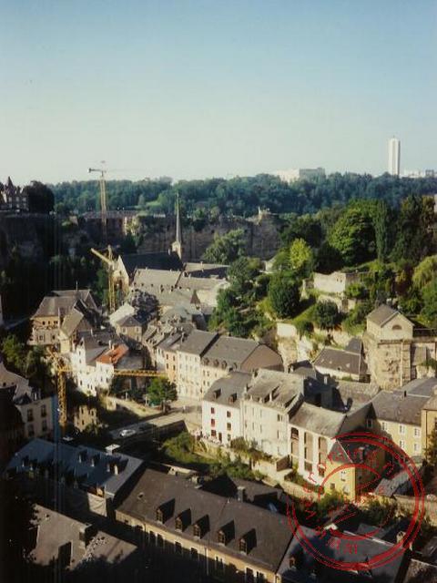Een overzicht over Luxemburg stad