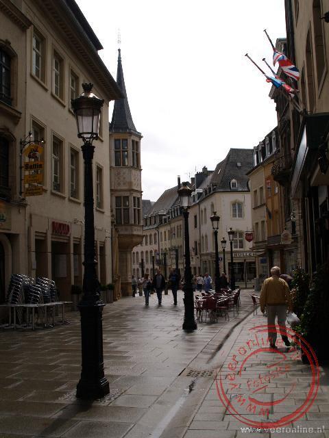De winkelstraat in Luxemburg