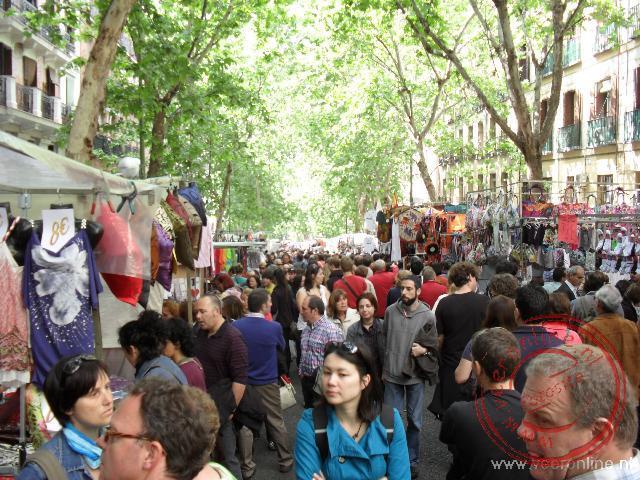 Drukte op de Calle de la Ribera de Cortidores