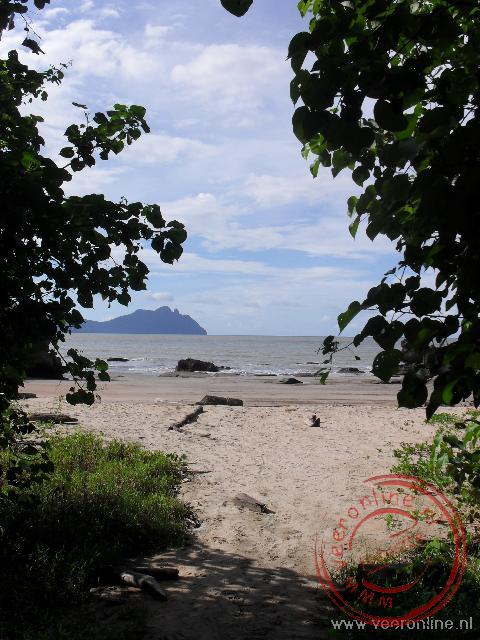 Paku beach is het einddoel van een relatief korte maar pittige trail in Bako National park