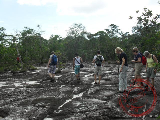 Na een klim bereiken we het plateau tijdens de trail in Bako National Park