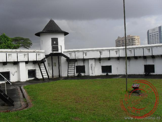 Het fort Margherita in Kuching is in 1879 gebouwd door Charles Brooke.