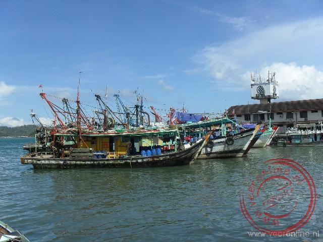 De haven van Kota Kinabalu