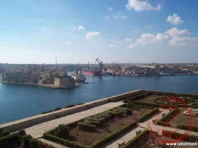 De Grand Harbour gezien vanuit Valletta