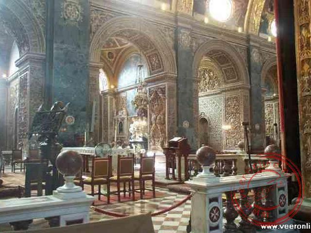 Het interieur van de Kathedraal van Valletta