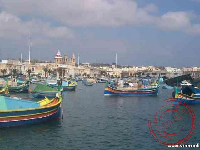 De haven van Marsaxlokk