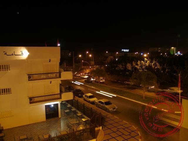 Het centrum van Agadir met de boulevard gezien vanuit het hotel