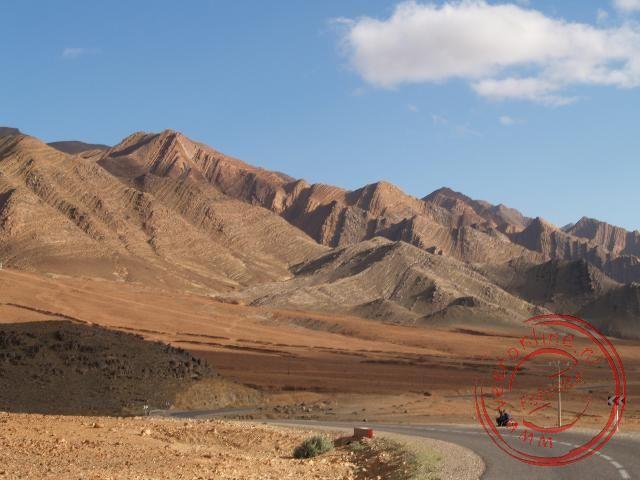 De fraaie bergtoppen van het Anti Atlas Gebergte