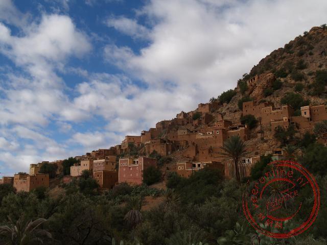 Een berberdorp in de Ammeln Vallei