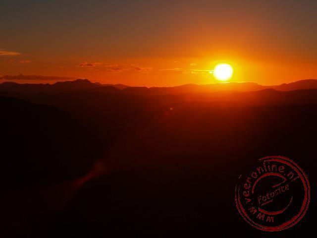 Zonsondergang in Amtoudi