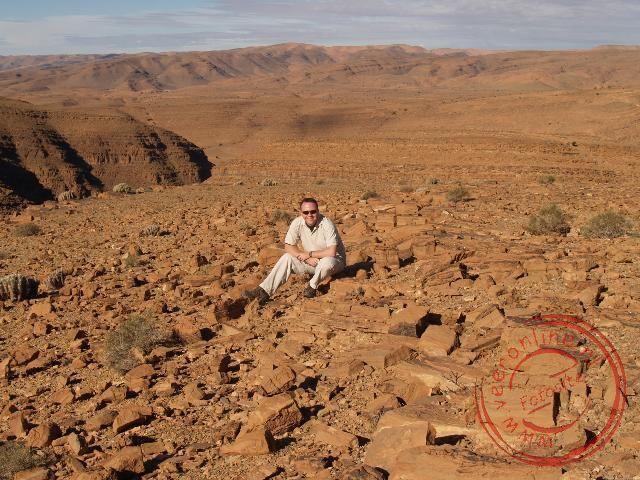 Ronald alleen in de woestijn