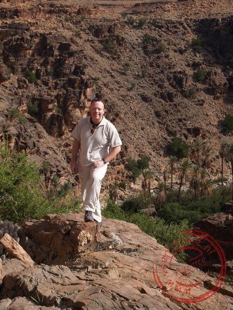Ronald tijdens de bergwandeling