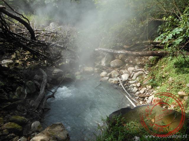 De pothole in het national park Rincón de la Vieja